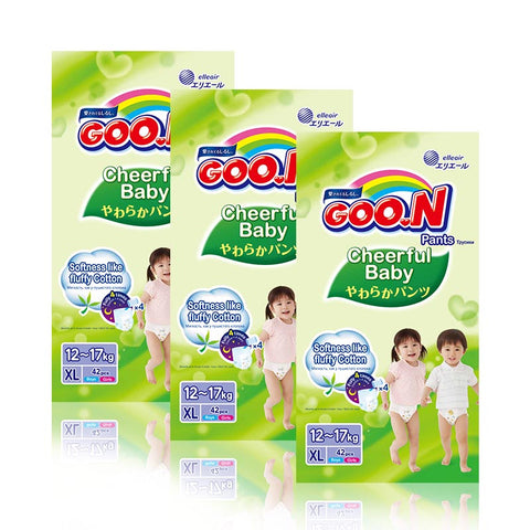 Goo.N Cheerful Baby Pants size L - XL x 3 packs
