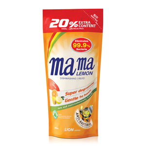 Mama Lemon Dishwashing Liquid Anti-Bacteria Refill 600ml