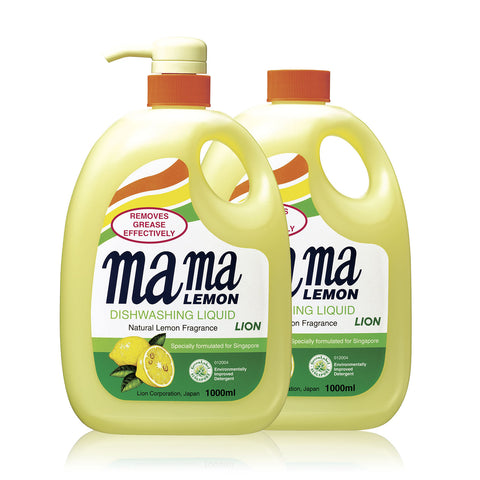 Mama Lemon Dishwashing Liquid 1L + Refill 1L