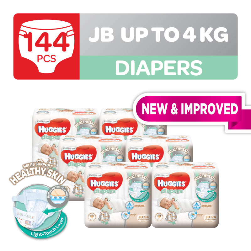 Huggies Platinum Diapers Just Born 24pcs x 6 packs