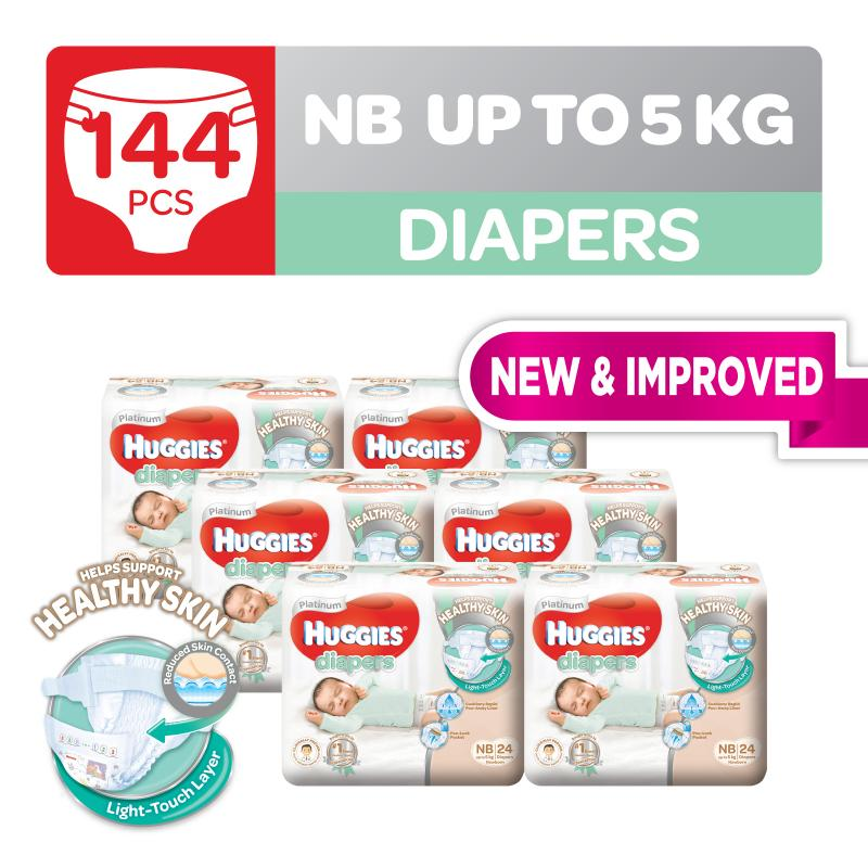 Huggies Platinum Diapers Tape Newborn 24pcs x 6 packs