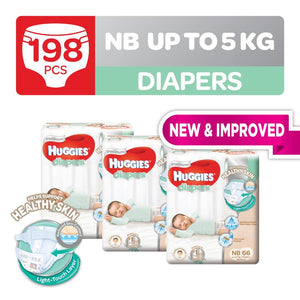 Huggies Platinum Diapers Tape Newborn 66pcs x 3 packs