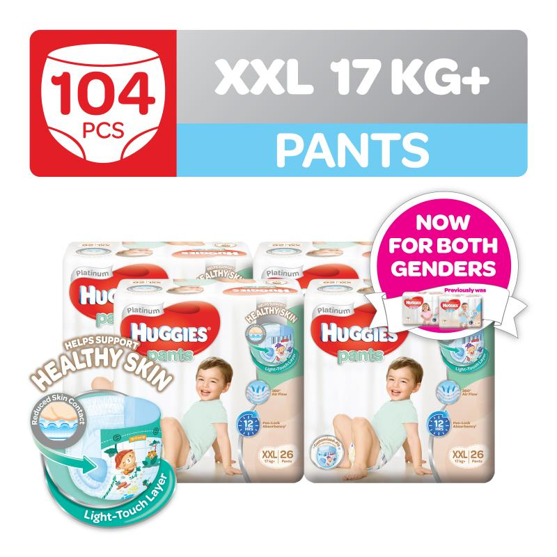 Huggies Platinum Diapers Pants XXL 26pcs Boy x 4 packs
