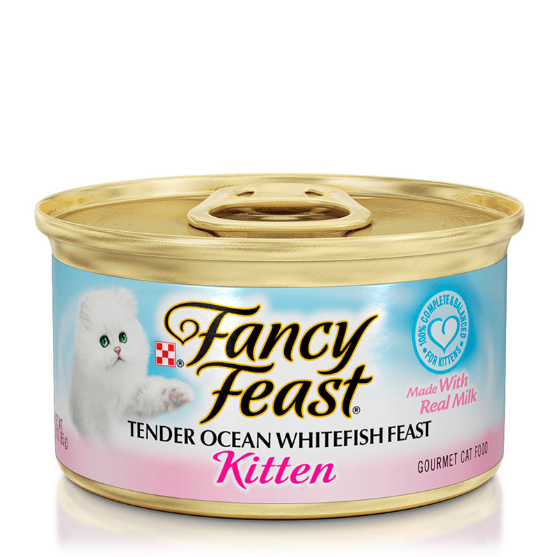 Fancy Feast Kitten Tender Ocean Whitefish Feast 85g