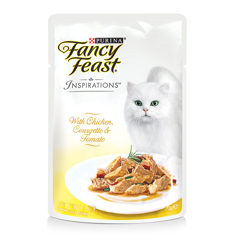 Fancy Feast Chicken, Courgette & Tomato 70g