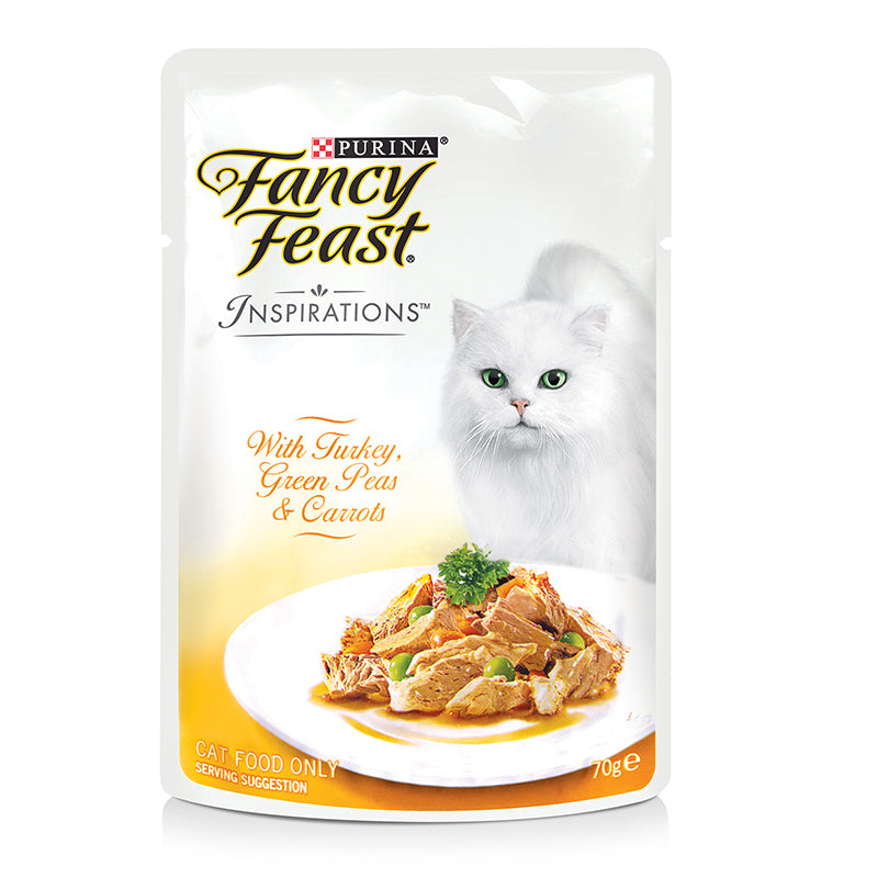Fancy Feast Turkey, Green Peas & Carrots 70g