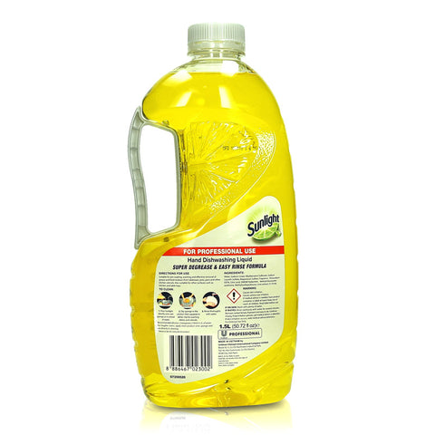 Sunlight Lime Dishwashing Liquid For Commercial Use 1.5L