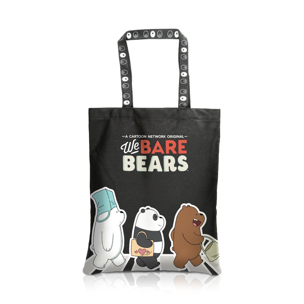 We Bare Bears Canvas Tote Bag Crossing the Road