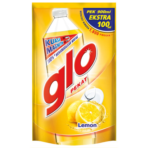 Glo Dishwashing Lemon Liquid Refill 1L