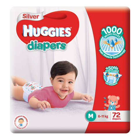Huggies Silver Diapers M72