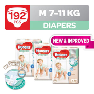 Huggies Platinum Diapers Tape M 64pcs x 3 packs