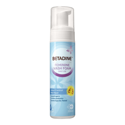 Betadine Feminine Wash Foam Odour Control Witch Hazel 200ml