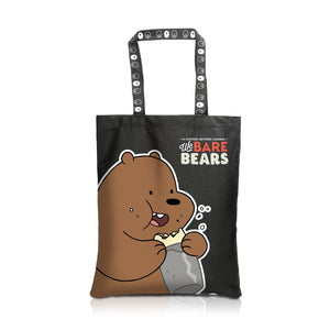 We Bare Bear Canvas Tote Bag Grizz