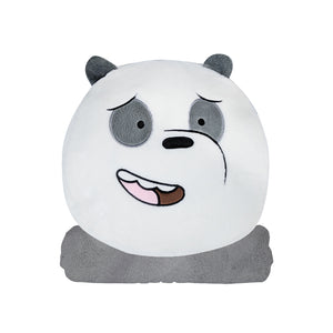 We Bare Bears Panda Bear Cushion + Blanket