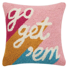 Modern Ornament Go Get 'Em Hook Decorative Pillow
