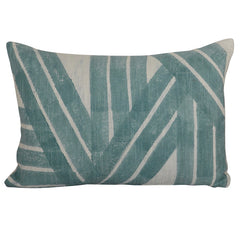 Modern Ornament Aqua Stripes Decorative Pillow