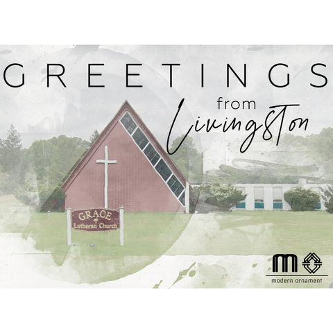 Greetings from Livingston Grace Lutheran Church Postcard