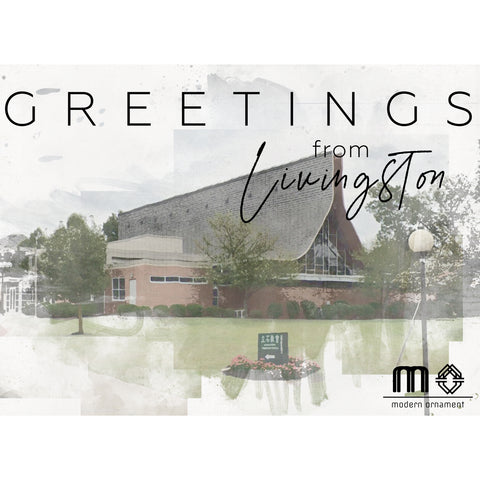 Greetings from Livingston Living Stone Christian Church Postcard