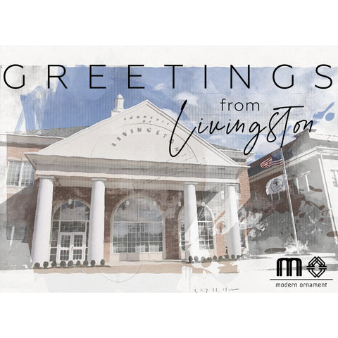 Greetings from Livingston Town Hall Postcard