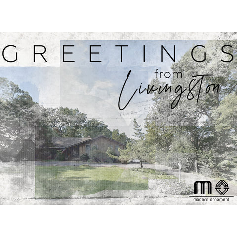 Greetings from Livingston House Postcard