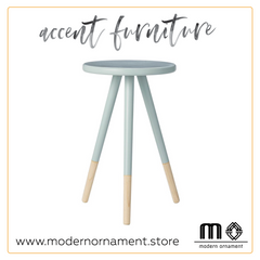 Modern Ornament's Sky Blue Accent Table