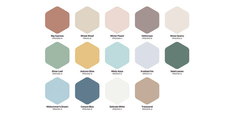 PPG Paints Be Well 2021 Color Palette
