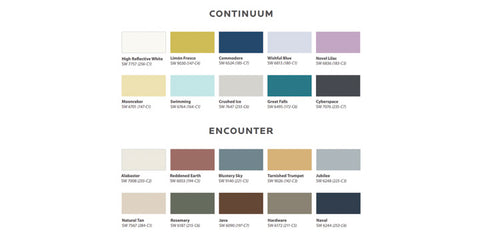 Sherwin Williams Colormix Forecast 2021 Continuum and Encounter