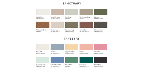 Sherwin Williams Colormix Forecast 2021 Sanctuary and Tapestry