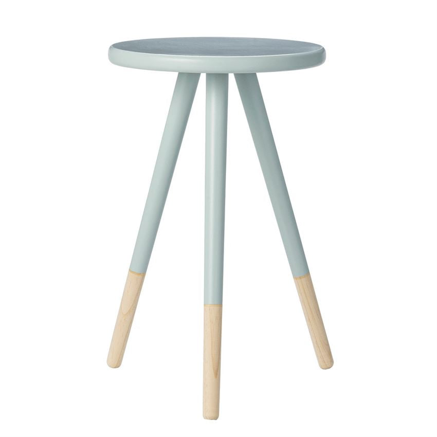 Sky Blue Wood Side Table