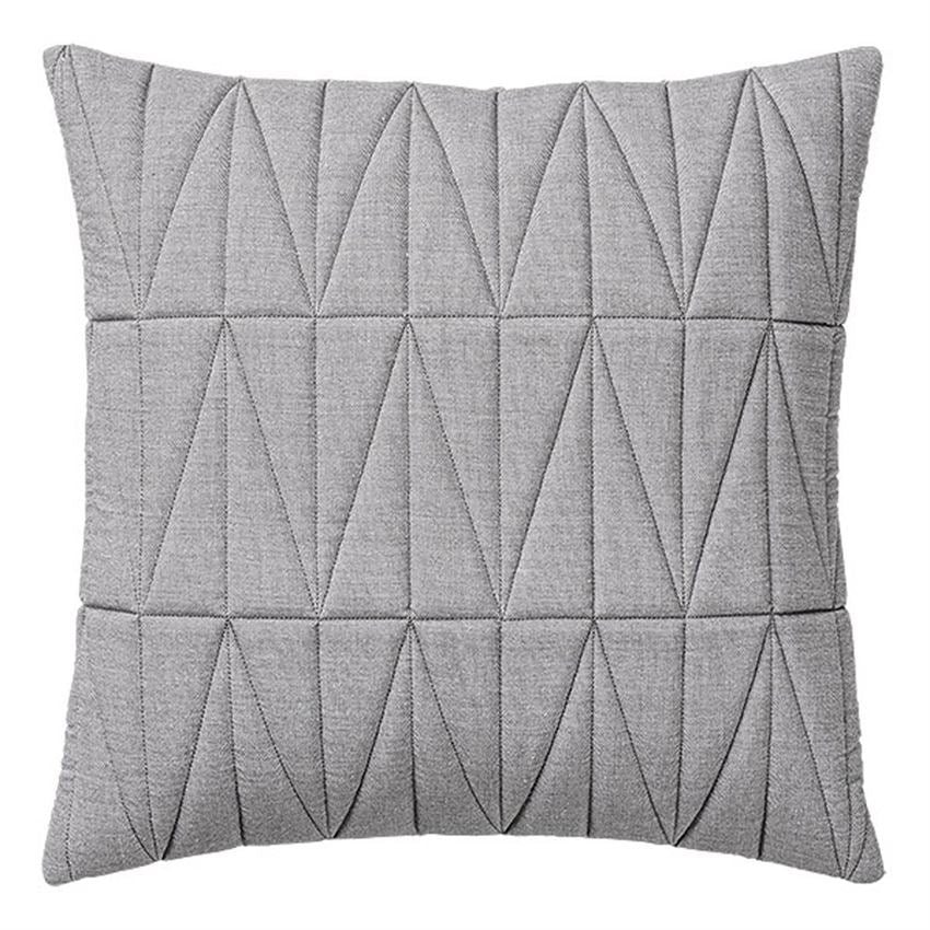Quilted Grey Patterned Pillow