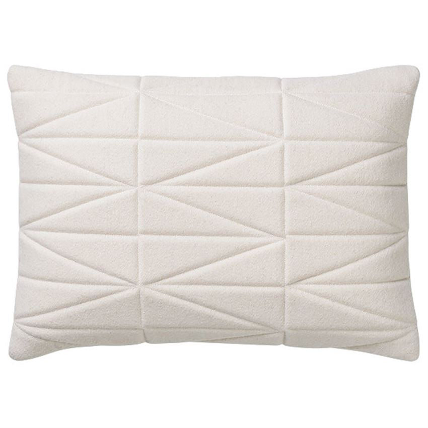 Quilted White Oversized Pillow
