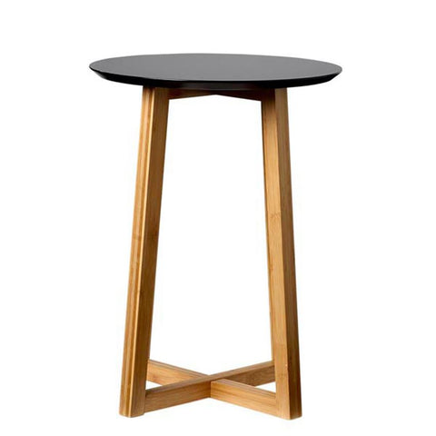 Bamboo and Black Side Table