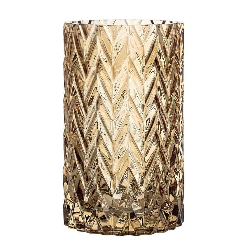 Brown Glass Textured Vase