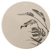 Beige Plate with Leaf Print