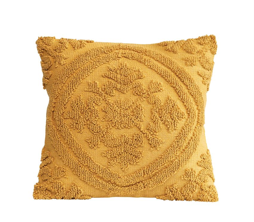 Yellow Chenille Pillow