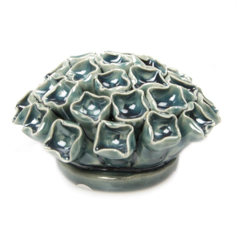 Teal Ceramic Flower