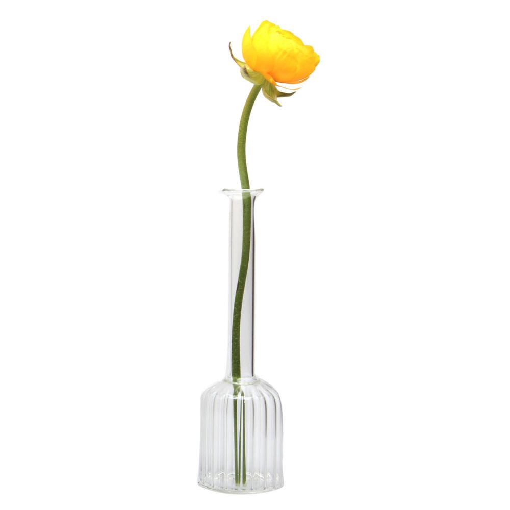 Fluted Crystal Bottle Vase
