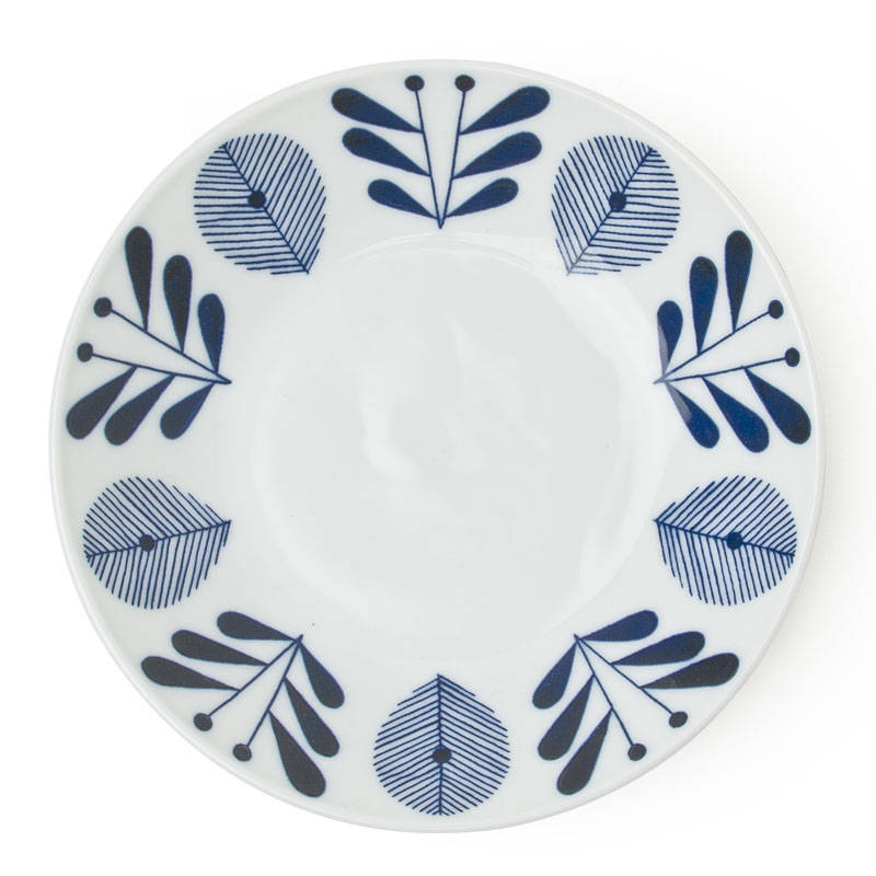 Blue and White 7 inch Dish Tableware