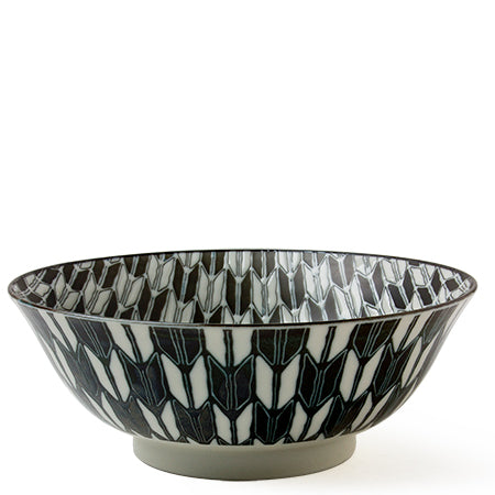 Black and White 7.75 inch Bowl Tableware