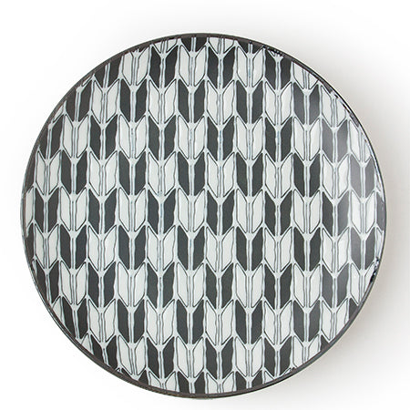Black and White 8 inch Plate Tableware