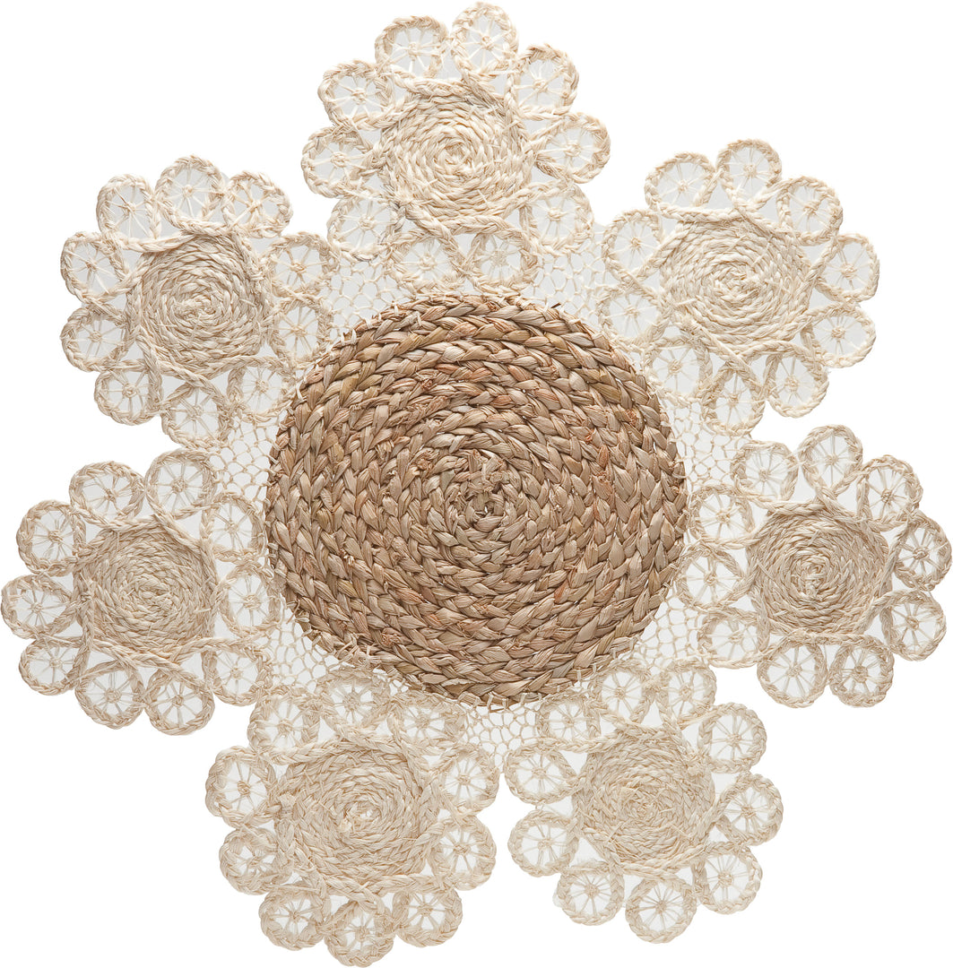 Tabletop Straw Two Tone Placemat
