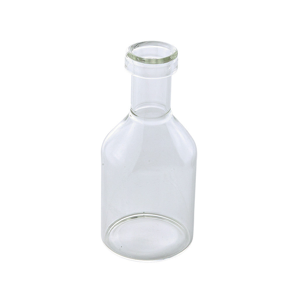 Clear Glass C Vase