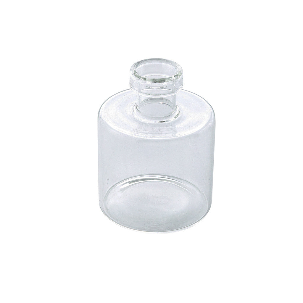 Clear Glass G Vase