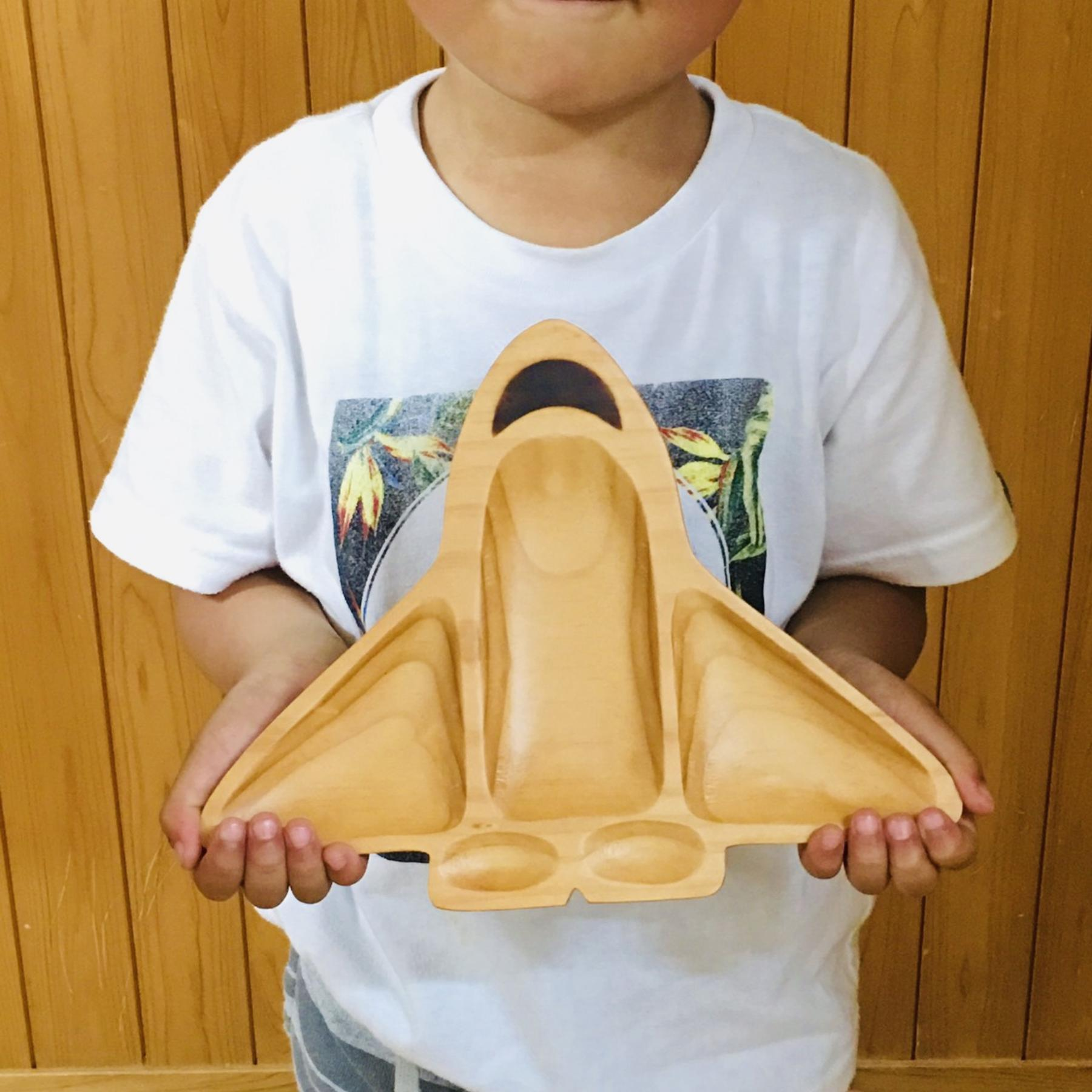Spaceship Wooden Plate