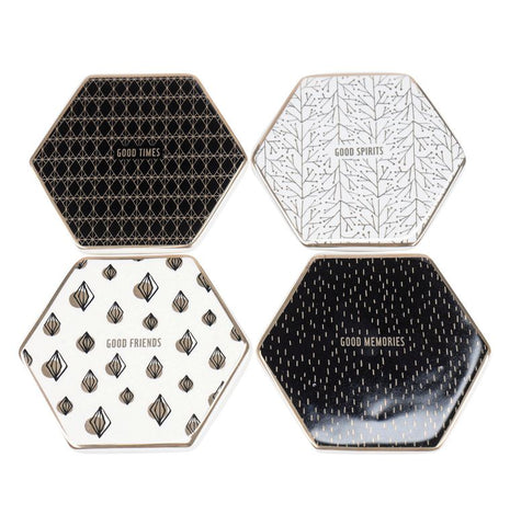 Coaster Set - Octagonal Ceramic