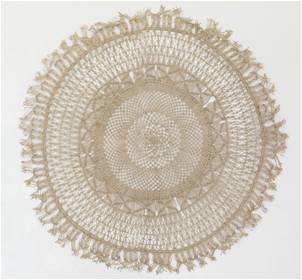 Round Jute Wall Hanging Large