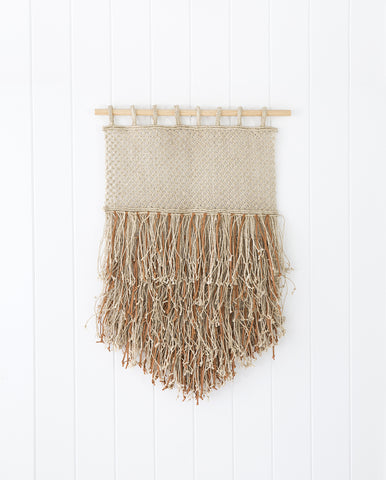 Wall Hanging - Jute + Leather Fringe