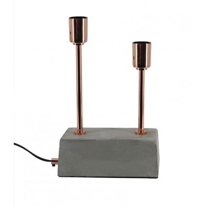 Large Dual Concrete Table Lamp