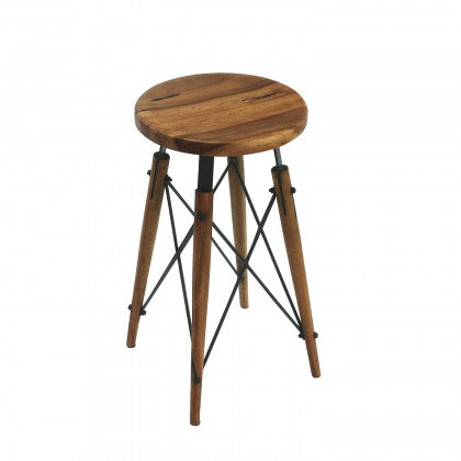 Metal X-Base Counter Stool
