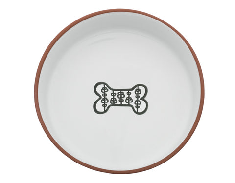 Large White Bone Dog Dish